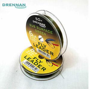 Drennan Subsurface Green Fly Fishing Leader 50m