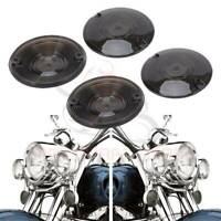 Details about  /Chrome Front Turn Signal Visor Kit for Harley Electra Glide Ultra Classic FLHTCU