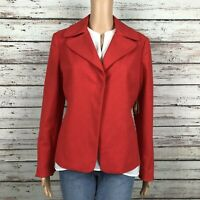 NEW Coldwater Creek Cinched Back Suit Blazer Jacket Size 8 Orange Snap Front