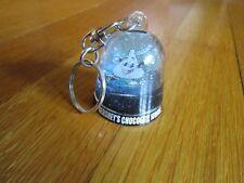 Vtg Hershey Kiss Key Ring Chocolate World Keychain Glitter Water Like Snow Globe