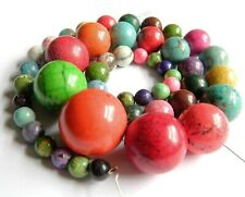 Semi Precious Stone Graduated Smooth Round Beads for Necklace