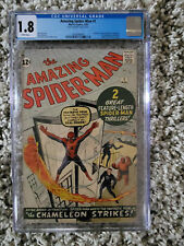 Amazing Spider-man #1 CGC  1.8 White Pages!