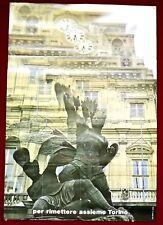 PARTITO SOCIALISTA DEMOCRATICO Manifesto Poster PSDI POLITICO TORINO CONTE VERDE