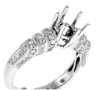 Diamond Engagement Ring Setting 0.52ct VS1 White 18k Gold