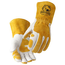 Cowhide MIG Glove Reinforced Palm & Thumb Size M    (Free Shipping Aust Wide)