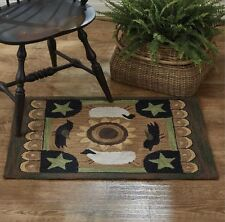 """Favorite Things Hand Hooked Area Rug 24"""" x 36"""" By Park Designs. Country Area Rug"""