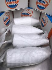 100 Chip Cones  fish and chips takeaway Packaging Ice Cream