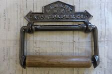 Cast Iron & Wood Antique Toilet Roll / Paper Holder - Albany Victorian bathroom