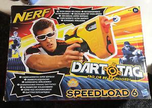 NERF Dart Tag Speedload 6 Blaster Gun High Speed Reloads Hasbro IN BOX