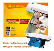 """Marigold 105-Count Pack 5 mil Letter Size, 9""""x11.5"""", Thermal Laminating Pouches"""