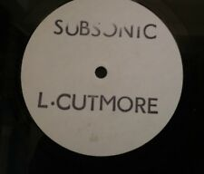 """L.Cutmore – Subsonic 12"""" Mix  Fast Forward Records – CUT 1 Promo Techno VG+"""
