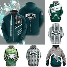 Philadelphia Eagles Football Hoodie Fans Pullover Sweatshirt Hooded Jacket S-5XL