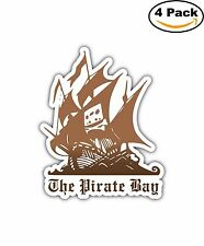 The Pirate Bay Torrent Bitorrent Decal Diecut Sticker 4 Stickers