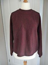 BNWOT NEXT Red/Black Fleck Brushed Material LS Top Size 12