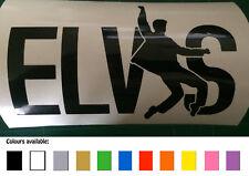 Elvis funny car / bike / toolbox / window sticker decal
