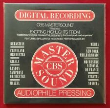 CBS MASTERSOUND AUDIOPHILE COMPILATION LP MINT SEALED! HALF SPEED MASTER AS 902