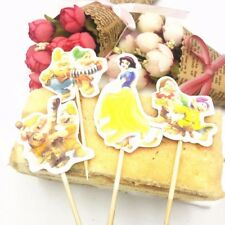SNOW WHITE & Nani per Torta PICKS CUPCAKE FESTA decorazioni x 12