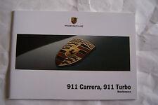 2009 Porsche 911 carrera Owners Maintenance schedule 911 turbo Service book