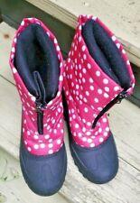 Itasca  Youth Snow Ski Boots Pink White Polka Dot Size 6