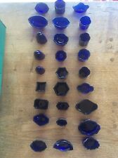Cobalt Blue Glass Liner for Solid Silver Salt Mustard Pot Inkwell or Vase
