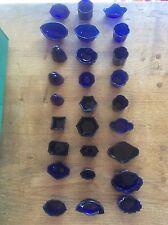 Cobalt Blue Glass Liner for Solid Silver Salt Mustard Pot Inkwell or Vase