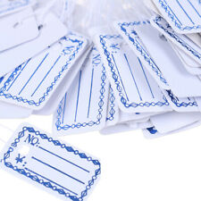 100Pcs New Merchandise Price Tags Hang String Jewelry Price White with StringsWi