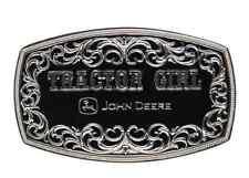 Montana Silversmiths John Deere Tractor Girl Rectangular Attitude Buckle A288JDS