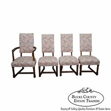 Jamestown Lounge Feudal Oak Set of 4 Antique Dining Chairs