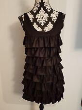 Abendkleid Kleid schwarz m.Rüschen edel Gr. S NEU v. MODSTRÖM Impressionen NP140