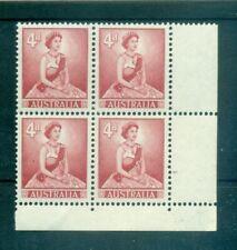 """Queen Elizabeth II-Australia 1959"""" 4 D """"Common Stamps Block of 4"""