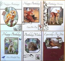 6 Pack of Country Wildlife Animal Birthday Cards Male Female Birthday Cards /WA1