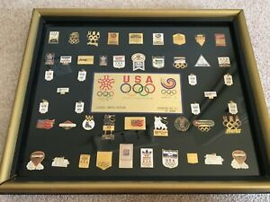 1988 Seoul & Calgary Games Sponsors Olympic Pin Set Limited Edition