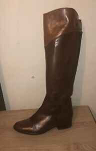 CLARKS LICORICE CANDY COMBI LEATHER RIDING BOOTS - UK 4D