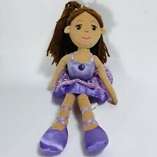 "14"" Ballerina Plush Doll by Aurora Hispanic Latina African American Purple Tutu"