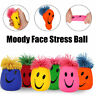 Moody Smiley Face Stress Ball - Stretchy Squishy Moulding Dough Fidget Toy