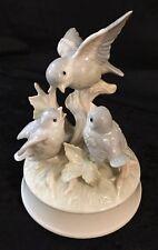 Otagiri Porcelain Bluebirds on Tree Music Box