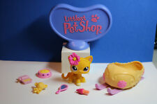 Authentic Vintage  Littlest Pet Shop # 855 Orange Short Haired Cat Rare