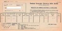 Fattura fornitura di  energia elettrica  - Siracusa 1946