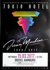 TOKIO HOTEL - 2017 - Konzerplakat - Dream Machine - Tourposter - Hamburg