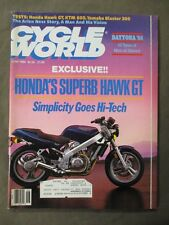 Vintage Cycle World Magazine June 1988  Honda Hawk GT