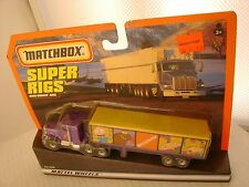 1998 MATCHBOX SUPER RIGS NICKELODEON KENWORTH AERODYNE TRUCK & TRAILER NEW MOC
