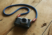 Windmup COOL Gray blue Climbing rope 10mm dyeing leather handmade Camera strap