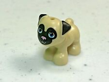 LEGO Friends Pug Dog Toffee Tan with Black Face & Ears  - NEW 24111pb01  (x1)