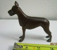"Vintage Carved Dark Wood Wooden Dog Collectible Figurine 3 1/4"" tall Very Nice!"
