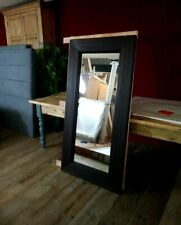 LAST ONE!! TIMOTHY OULTON LARGE & HEAVY DARK WOOD MIRROR H160CM x W80CM HUGE RRP