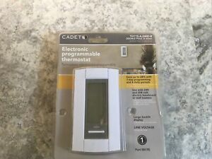 🔥BRAND NEW Cadet 7-Day Double-Pole 208/240 Electronic Programmable Thermostat