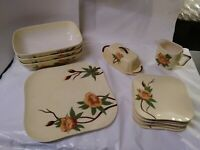 1950s Weil Ware California Pottery Set Of Dishes 13 pieces