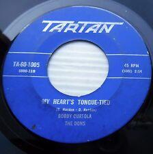 BOBBY CURTOLA 1961 teen 45 MY HEART'S TONGUE TIED DON'T YOU SWEETHEART ME e7885