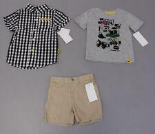 Caterpillar Boy's 3-Piece Shirts & Shorts Set Sc4 Multi Size 24 Months Nwt