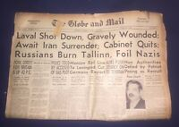 VINTAGE TORONTO GLOBE AND MAIL NEWSPAPER AUGUST 28, 1941 WORLD WAR 2